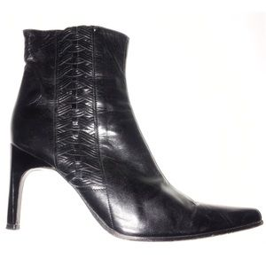BCBGMaxazria Leather black ankle boots booties 5